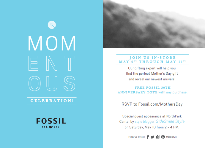 Fossil Mother's Day Event | SideSmile Style