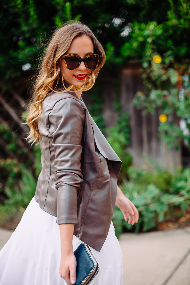 Grey Leather Jacket
