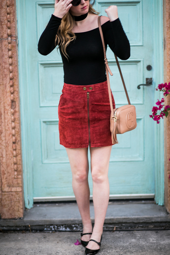 sidesmile-style-sanctuary-suede-skirt