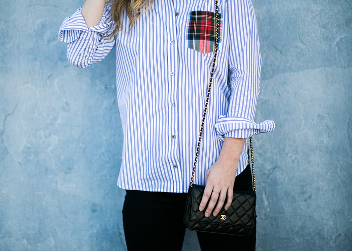 SIDESMILE STYLE PLAID AND STRIPED BUTTON DOWN-20