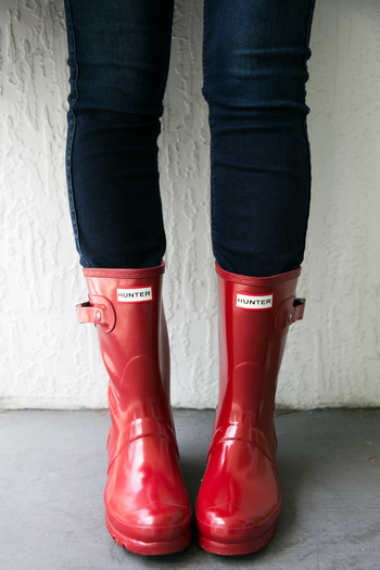 SIDESMILE STYLE RED HUNTER RAINBOOTS-7