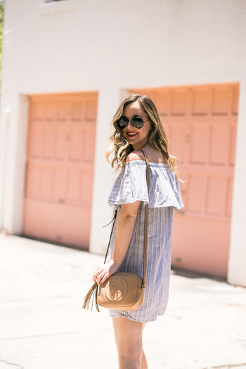 SideSmile Style Off the Shoulder Stripes-23