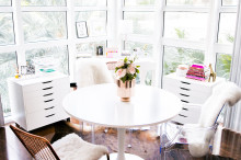 Tulip Dining Table Ghost Chairs