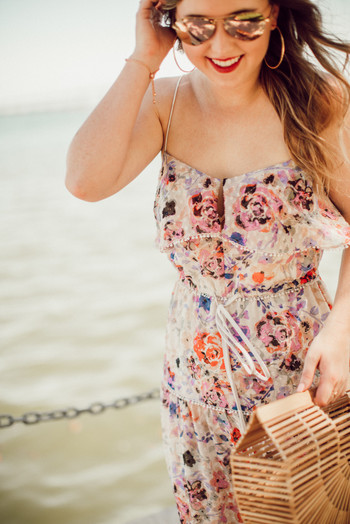SideSmile Style Floral Maxi Dress-4