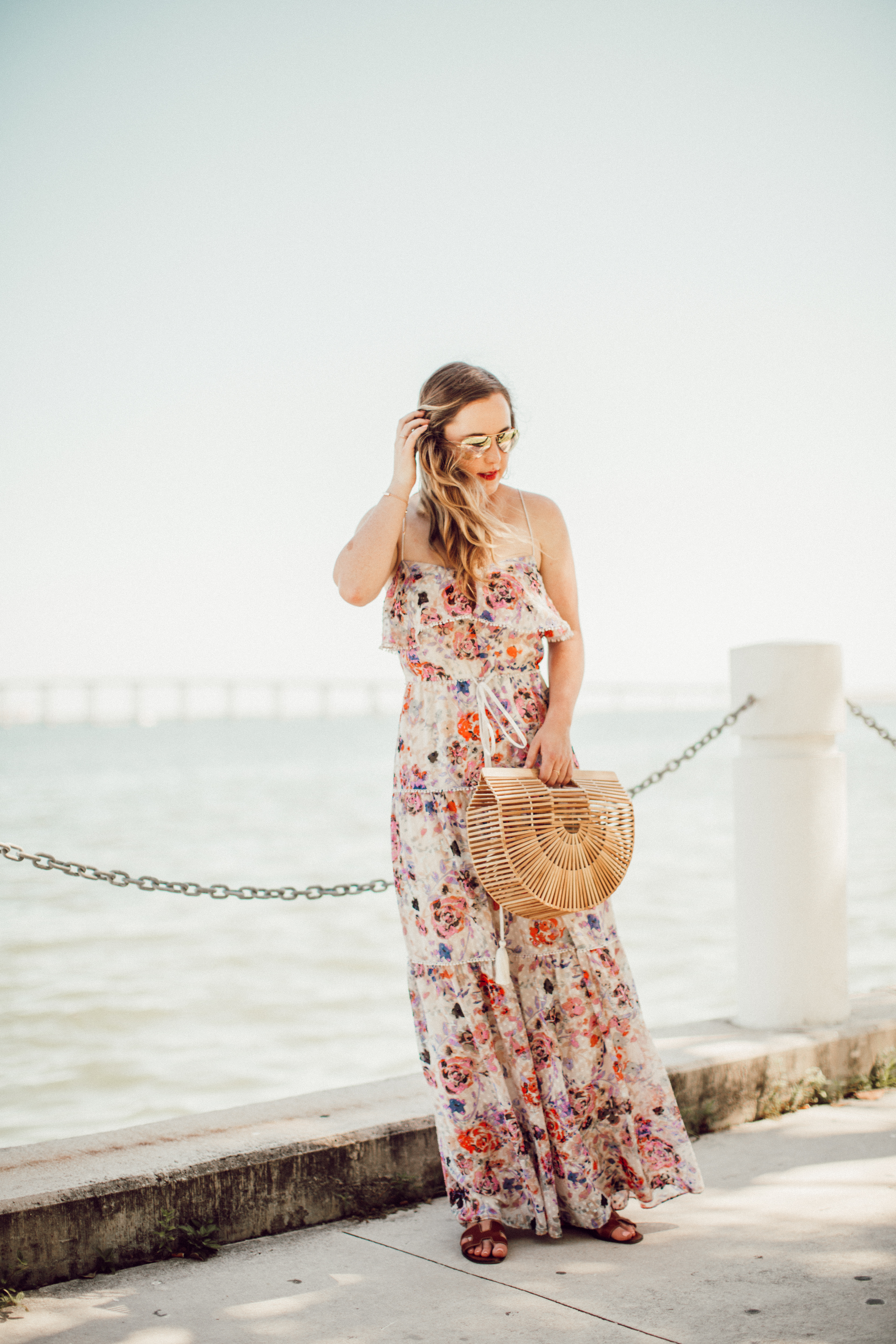 SideSmile Style Floral Maxi Dress-7