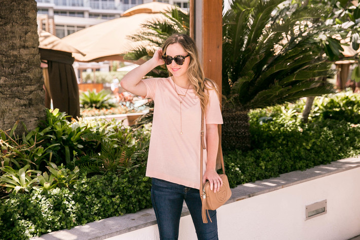 SideSmile Style Casual Pink Tee-4