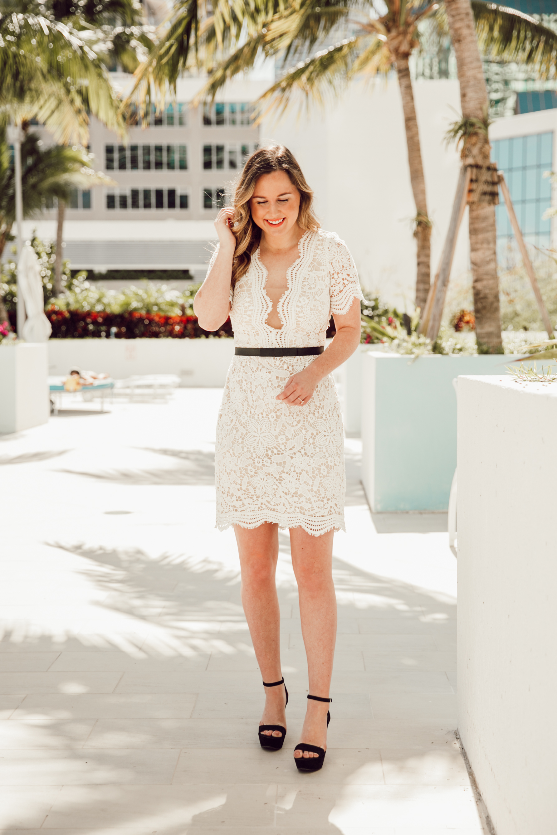 cff7b7f6e3cb With so many upcoming showers, parties, and wedding events I have been on  the hunt for alllll the little white dresses. This lace midi is my favorite  for a ...
